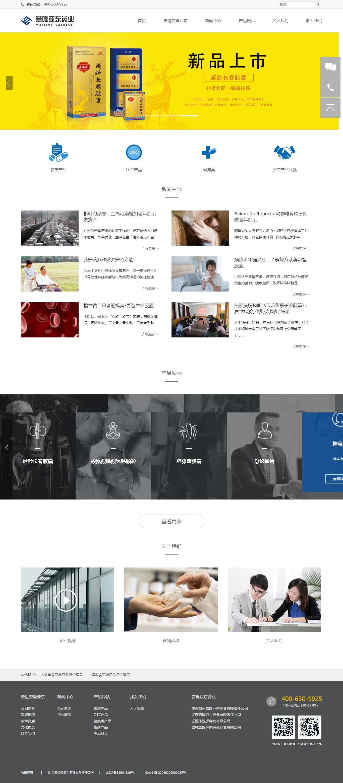 医药行业网站建设案例